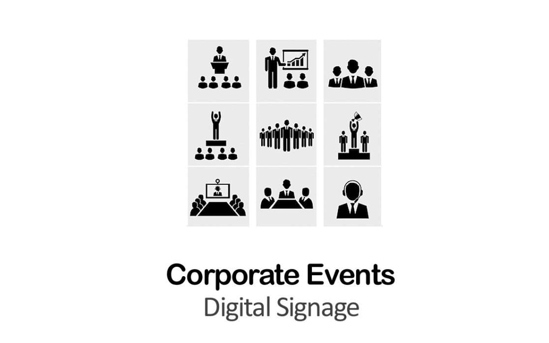 corporate events digital signage NYC