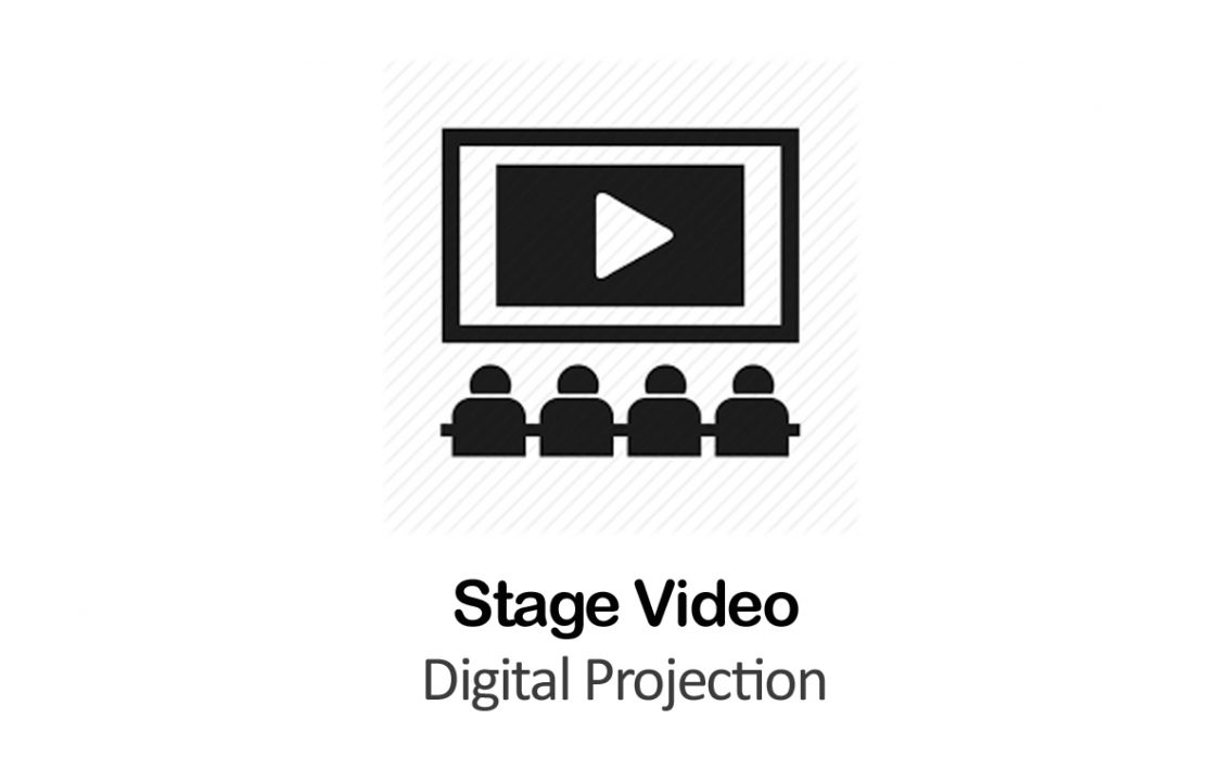 Digital Projection for Stage Video in New York