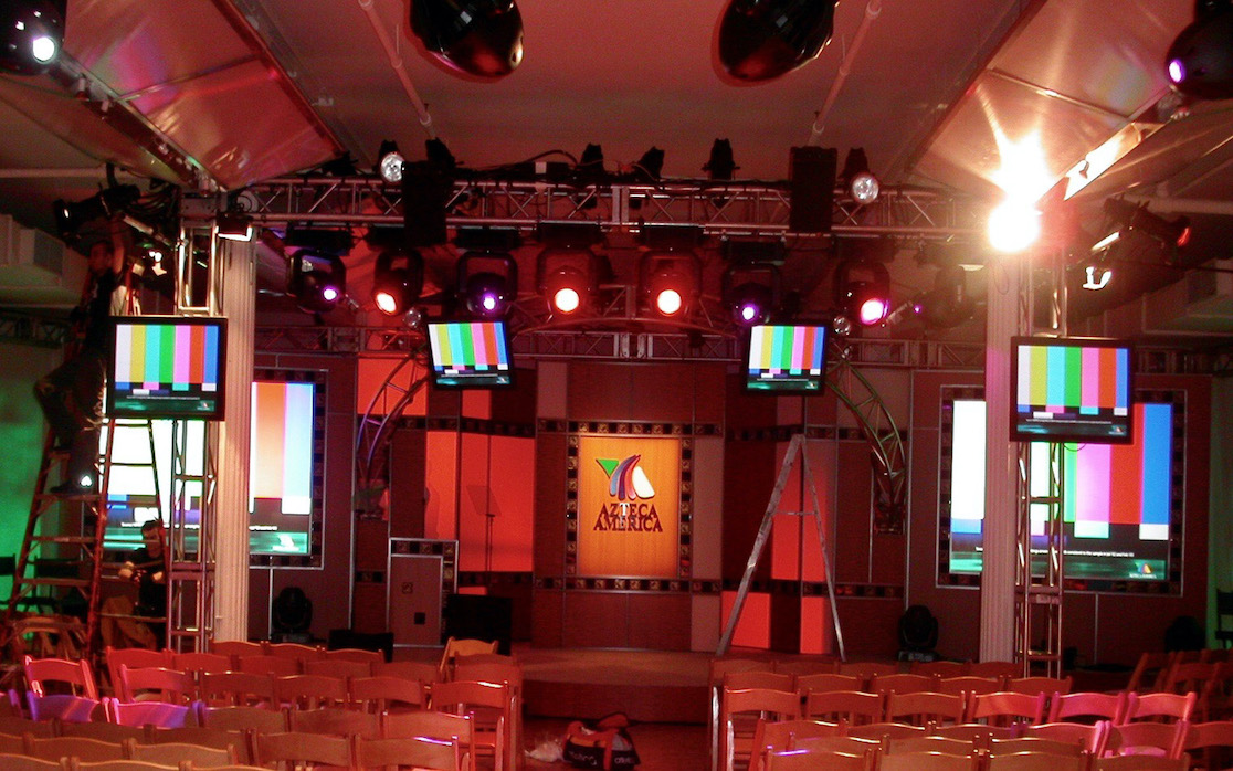 Digital Projection DLP projectors, Grass Valley switcher, Sony cameras for corporate events