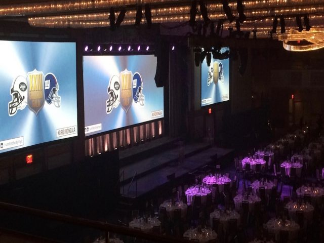 Christie M14K projector blend for corporate events