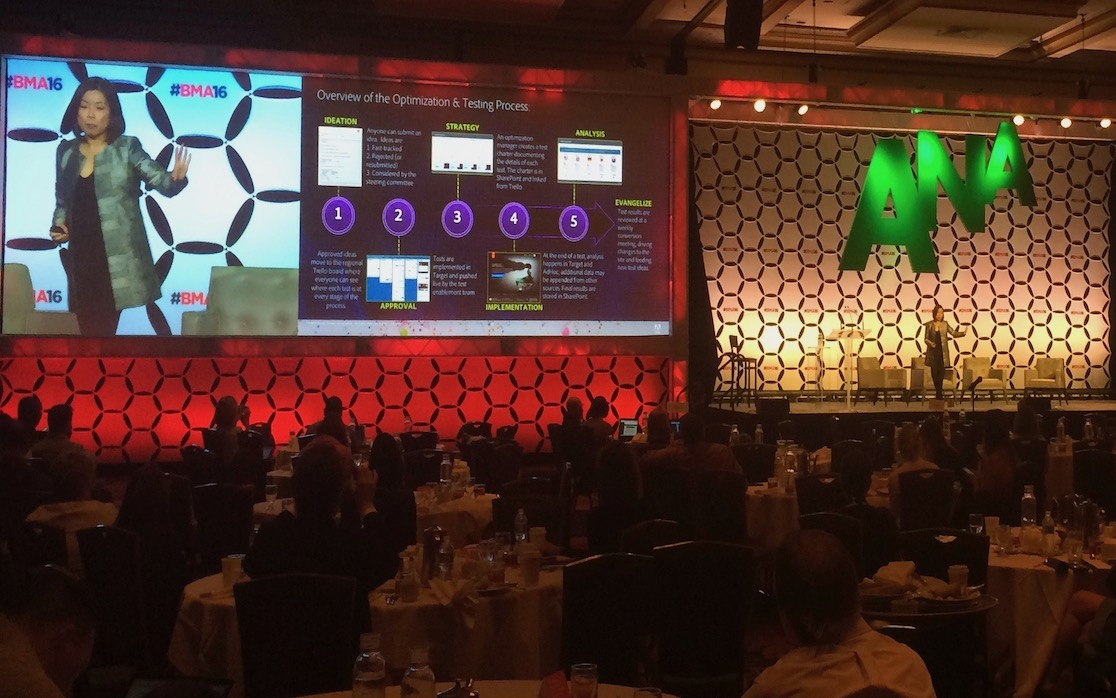 Christie M14K blended screens for corporate events
